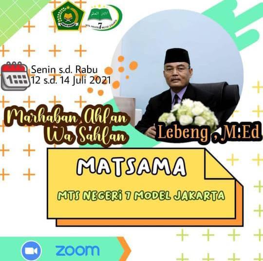 Pembukaan Kegiatan Matsama MTsN 7 Jakarta TP. 2021/2022
