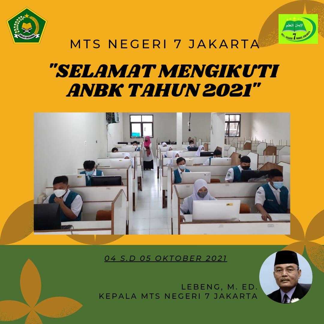 45 Peserta Didik MTs Negeri 7 Jakarta Ikuti ANBK Tahun 2021