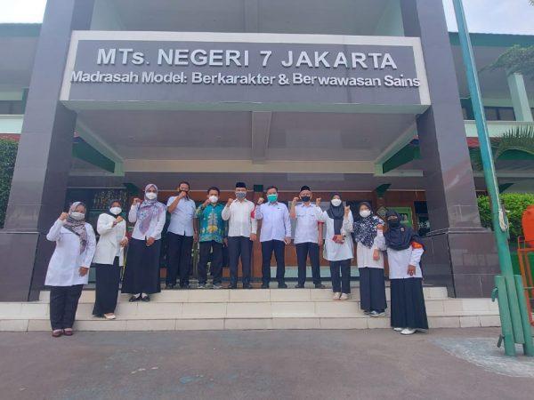 Monitoring dan Evaluasi Pelaksanaan ANBK (Asesmen Nasional Berbasis Komputer) Tahun 2021 di MTs Negeri 7 Jakarta